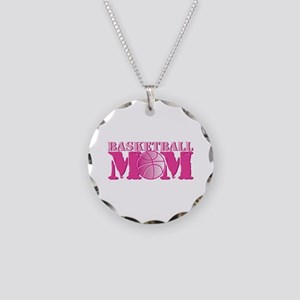 Basketball Mom Pink Necklace Circle Charm