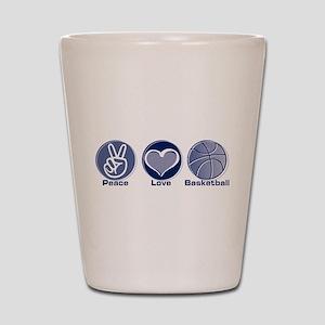 Peace Love Basketball Shot Glass