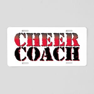 Cheer Coach Aluminum License Plate