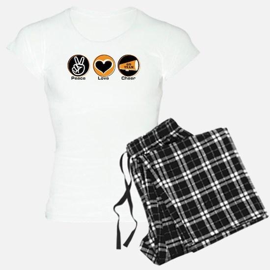 Peace Love Cheer BkOr Pajamas
