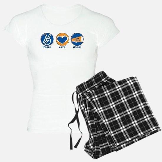 Peace Love Cheer BlOr Pajamas