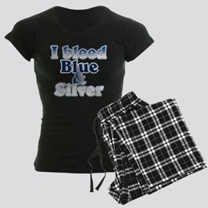 I Bleed Blue and Silver Women's Dark Pajamas
