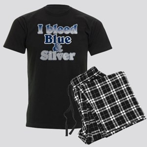 I Bleed Blue and Silver Men's Dark Pajamas