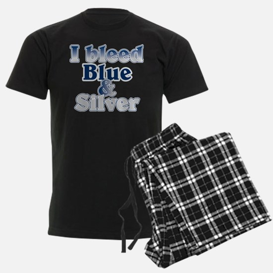 I Bleed Blue and Silver Pajamas