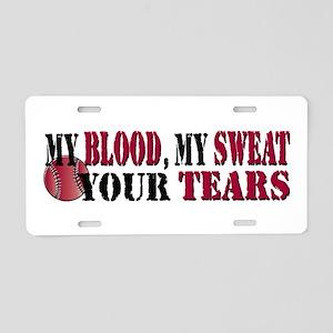Blood Sweat Vball Aluminum License Plate