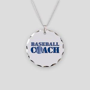 Baseball Coach Necklace Circle Charm