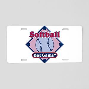 Softball Got Game? Aluminum License Plate