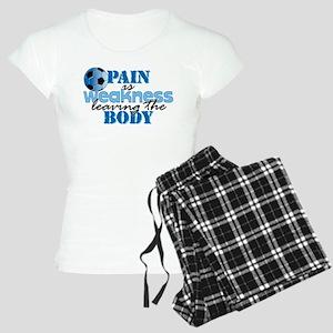 Pain is weakness soccer Women's Light Pajamas