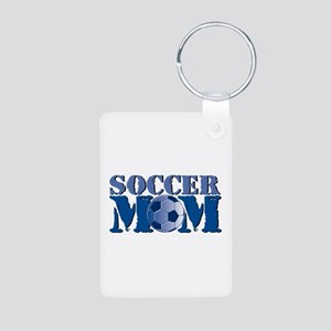 Soccer Mom Aluminum Photo Keychain