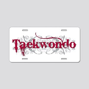 Taekwondo Red Aluminum License Plate