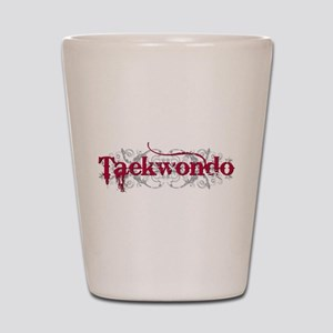 Taekwondo Red Shot Glass