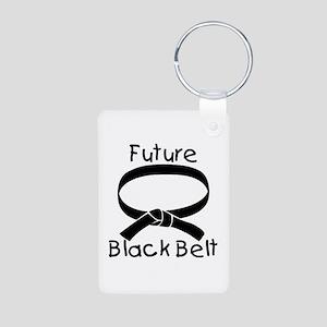 Future Black Belt Aluminum Photo Keychain