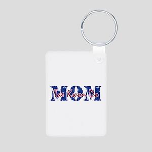 Tae Kwon Do Mom Aluminum Photo Keychain