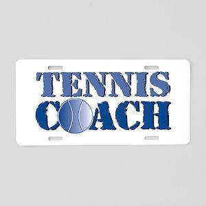 Tennis Coach Aluminum License Plate