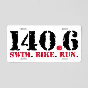 140.6 Swim Bike Run Aluminum License Plate