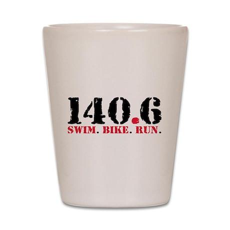 140.6 Swim Bike Run Shot Glass