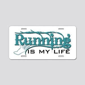 Running is my life bc Aluminum License Plate