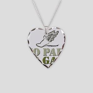 No Pain No Gain Track Necklace Heart Charm