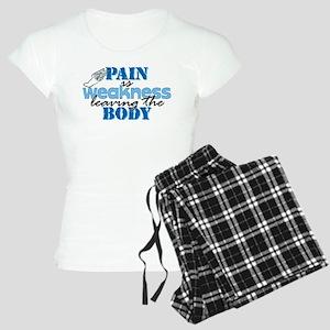 Pain is weakness track Women's Light Pajamas
