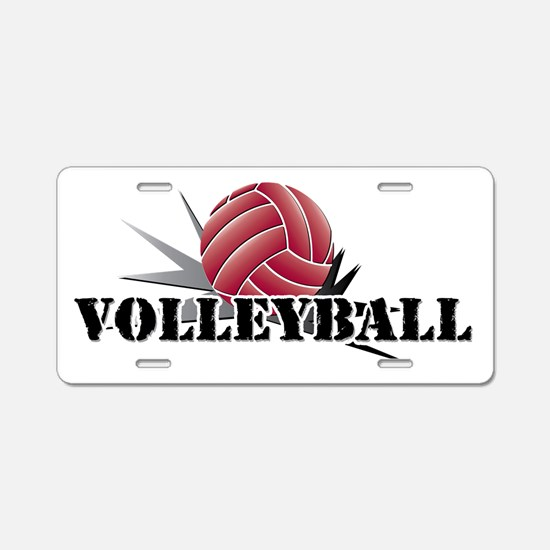 Cute Volleyball Aluminum License Plate