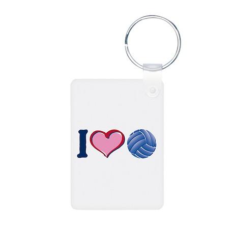 I Heart V-Ball Aluminum Photo Keychain