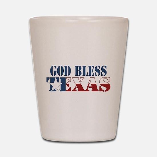 God Bless Texas Shot Glass