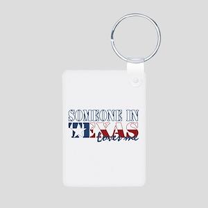 Someone in Texas Aluminum Photo Keychain