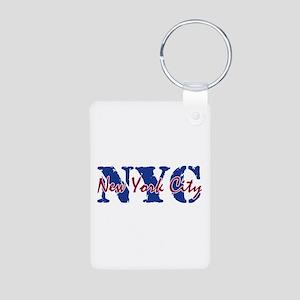 New York City Aluminum Photo Keychain