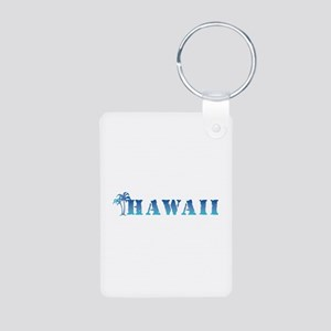 Hawaii - palm trees Aluminum Photo Keychain