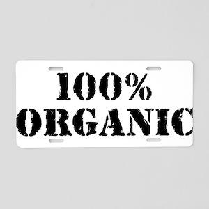 100% organic Aluminum License Plate