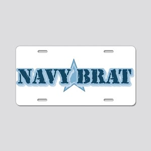 Navy Brat Aluminum License Plate