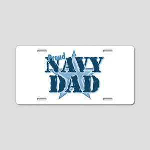 Proud Navy Dad Aluminum License Plate