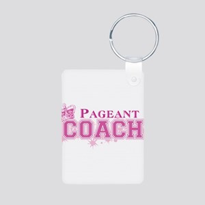 Pageant Coach Aluminum Photo Keychain