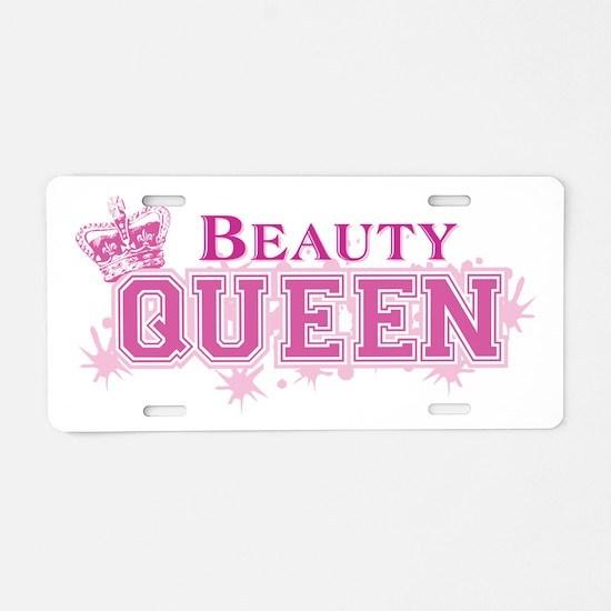 Beauty Queen Aluminum License Plate