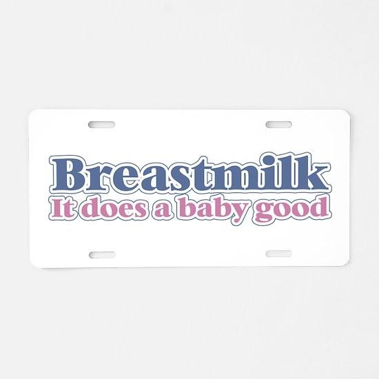 Breastmilk Aluminum License Plate