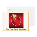 Time For The Heart Greeting Cards