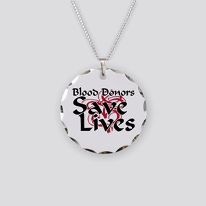 Jewelry Blood Donors Save Lives Necklace Circle Charm