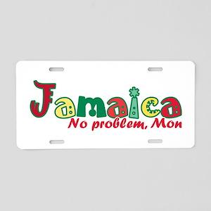 Jamaica No Problem Aluminum License Plate