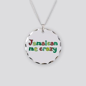 Jamaican Me Crazy Necklace Circle Charm