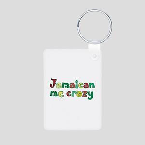 Jamaican Me Crazy Aluminum Photo Keychain