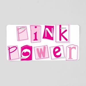 MK Pink Power Aluminum License Plate