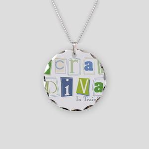 Scrap Diva (IT) Blue Necklace Circle Charm