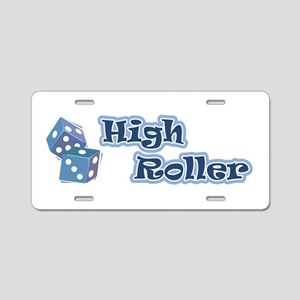 High Roller Aluminum License Plate
