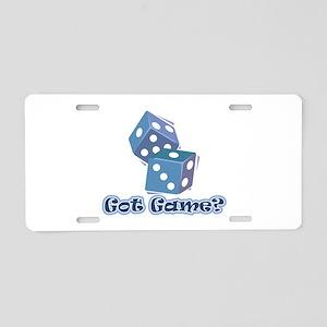 Got Game? (dice) Aluminum License Plate