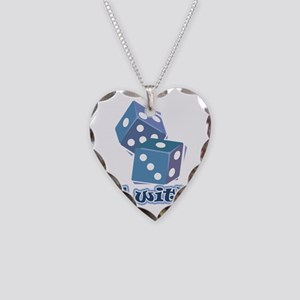 Roll with it Necklace Heart Charm