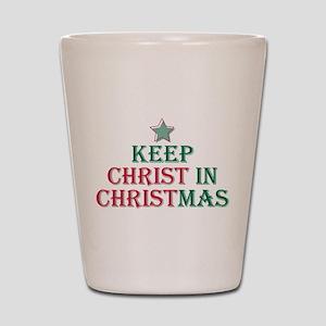 Keep Christ star Shot Glass