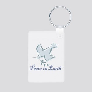 Peace On Earth Aluminum Photo Keychain Keychains