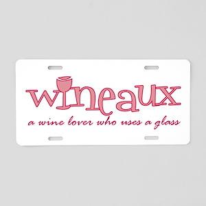 Wineaux Def Aluminum License Plate