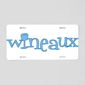 Wineaux gl blue Aluminum License Plate
