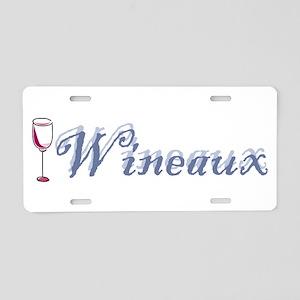 Wineaux Aluminum License Plate